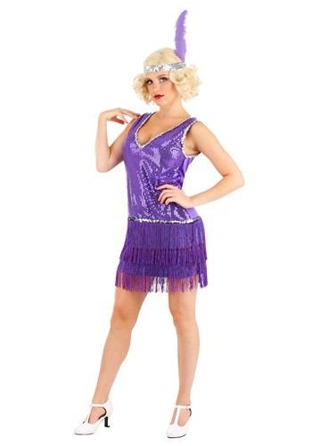 Amethyst Purple Flapper Womens Costume