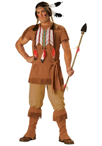 Click Here to buy Mens Native American Brave Costume from HalloweenCostumes, USA Funds & Shipping