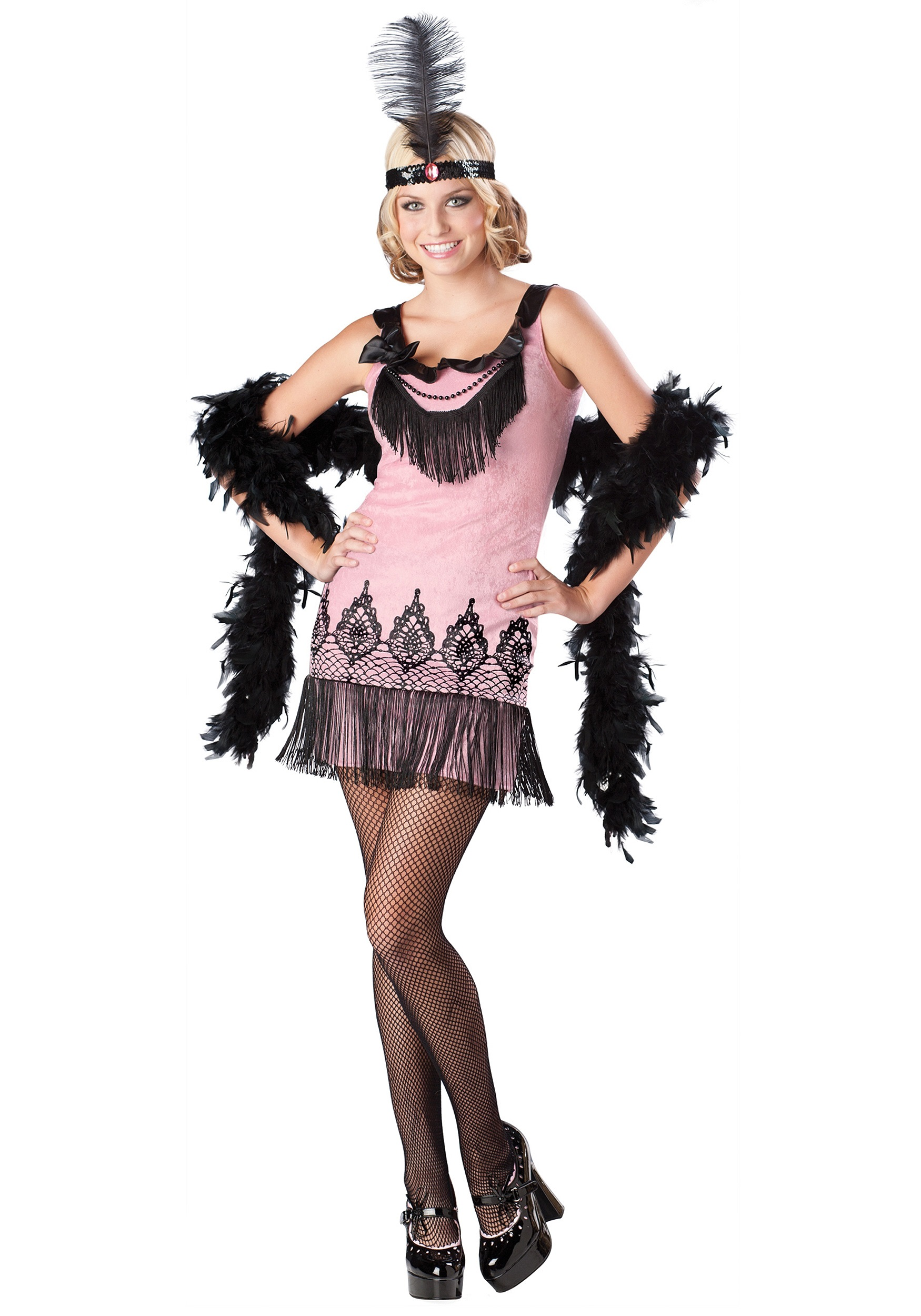 Flirty Teen Flapper Costume  sc 1 st  Halloween Costumes : teen jazz costumes  - Germanpascual.Com