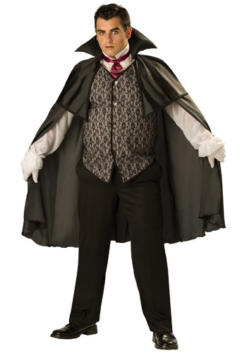 Click Here to buy Plus Midnight Vampire Costume from HalloweenCostumes, USA Funds & Shipping