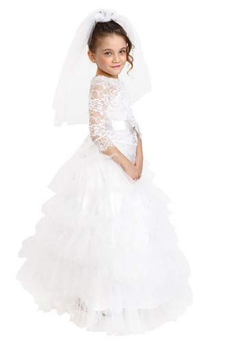 Girls Dress Up Bride Costume