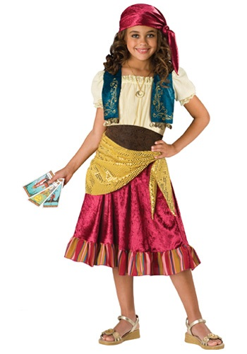 Click Here to buy Kids Gypsy Girl Costume from HalloweenCostumes, USA Funds & Shipping