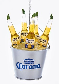 Ice Bucket of Corona Bottles Resin Ornament