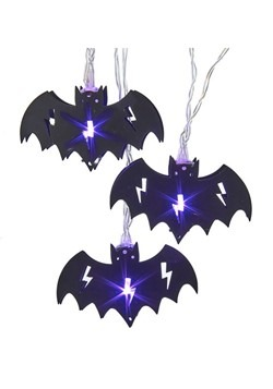 10 Light Purple Bat Lights Set