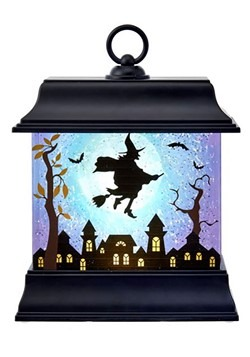 Halloween Black LED Light & Motion Lantern w/ Witch