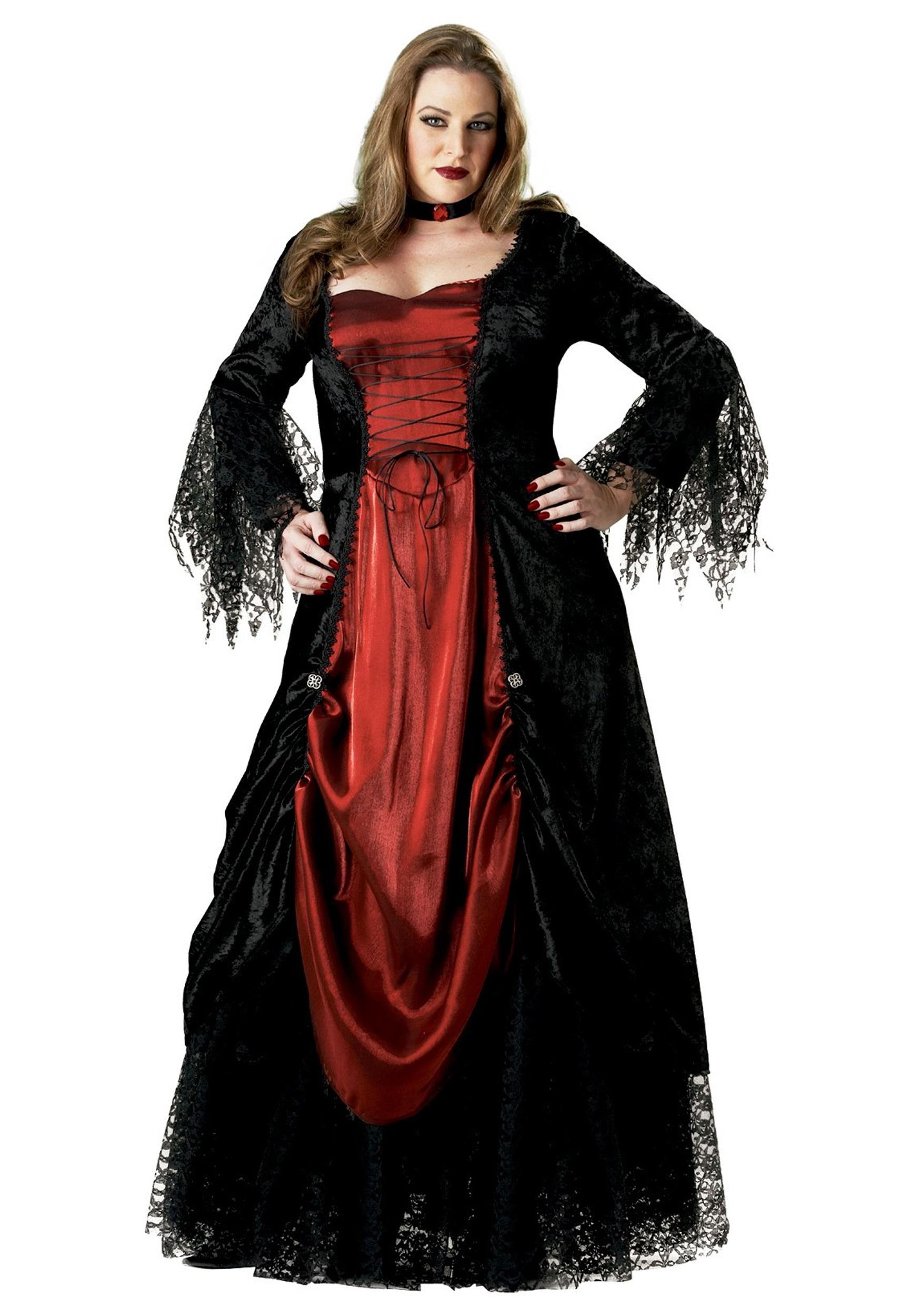 Women\'s Plus Size Vampire Costume 2X 3X