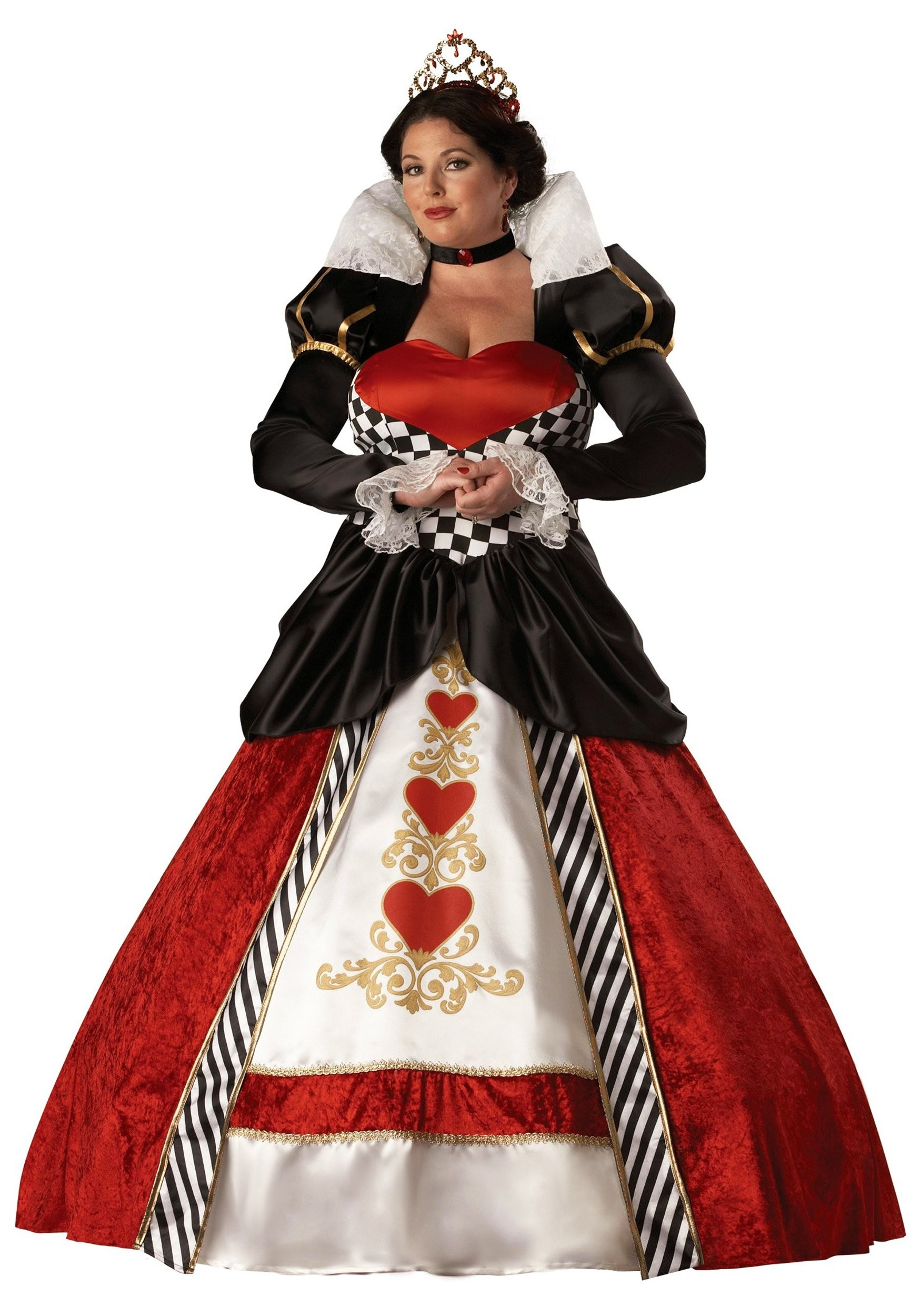 plus size adult queen of hearts costume