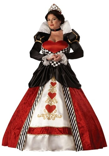 PLUS SIZE QUEEN OF HEARTS COSTUME - Womens Badass Halloween Costumes