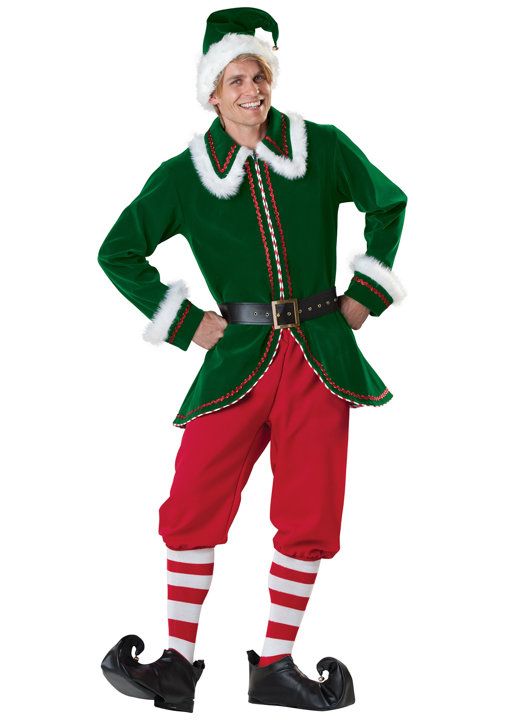 adult santa 39 s elf costume. Black Bedroom Furniture Sets. Home Design Ideas
