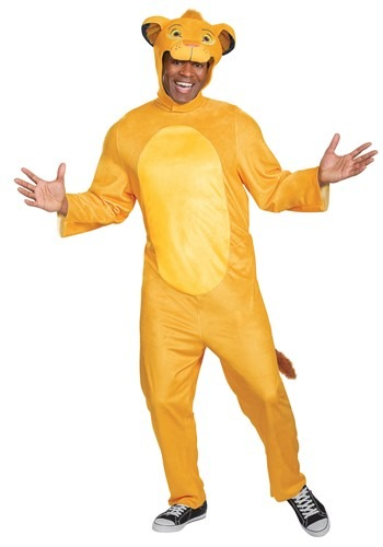 Lion King (Animated) Adult Simba Jumpsuit Costume