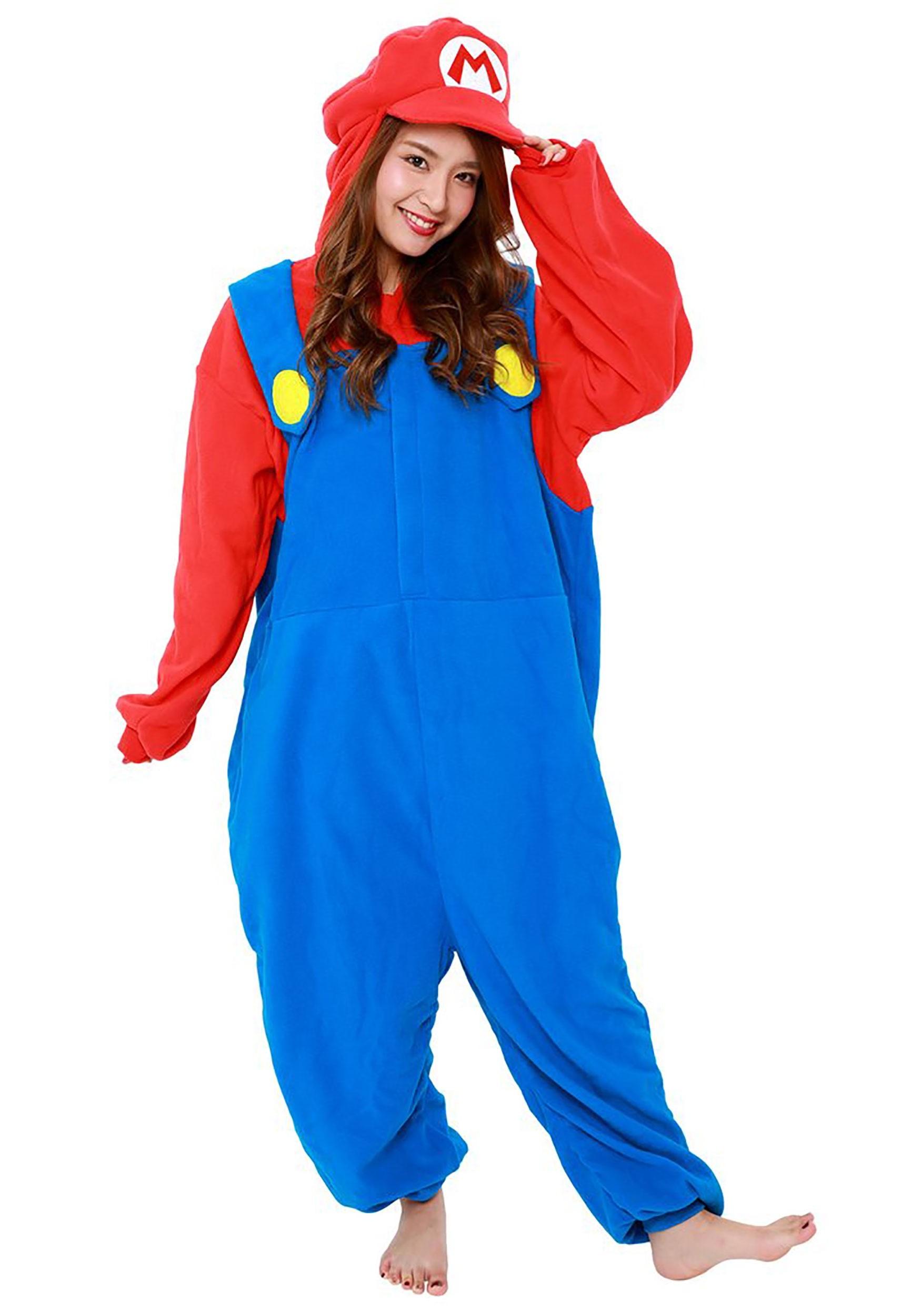 Super Mario Brothers Mario Kigurumi Costume For Adults