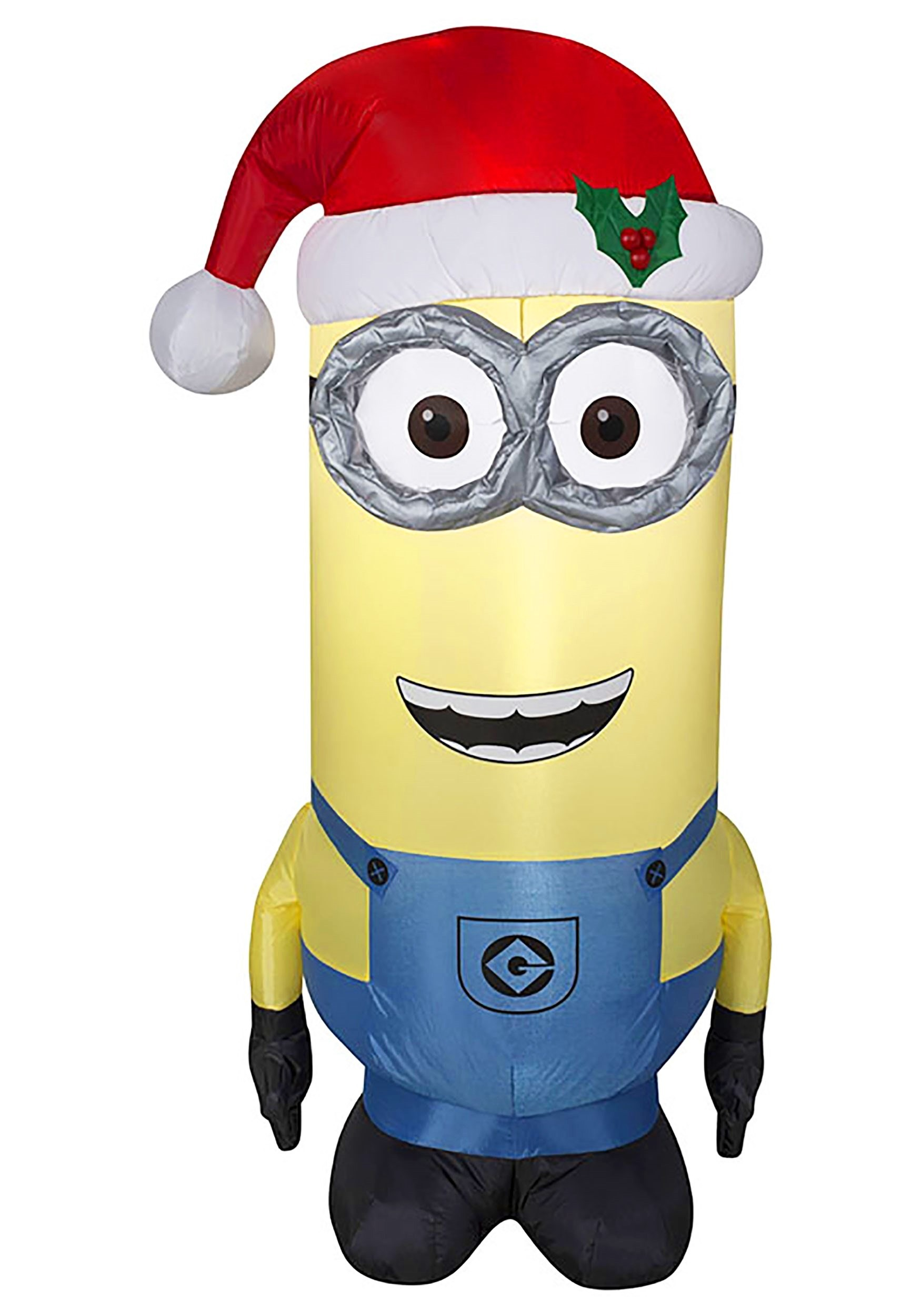 Despicable Me Inflatable Kevin Minion in Santa Hat