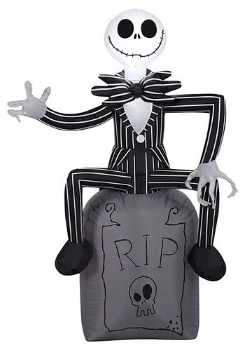 Nightmare Before Christmas Jack on Tombstone