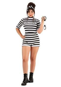 Women's Prisoner Romper Costume