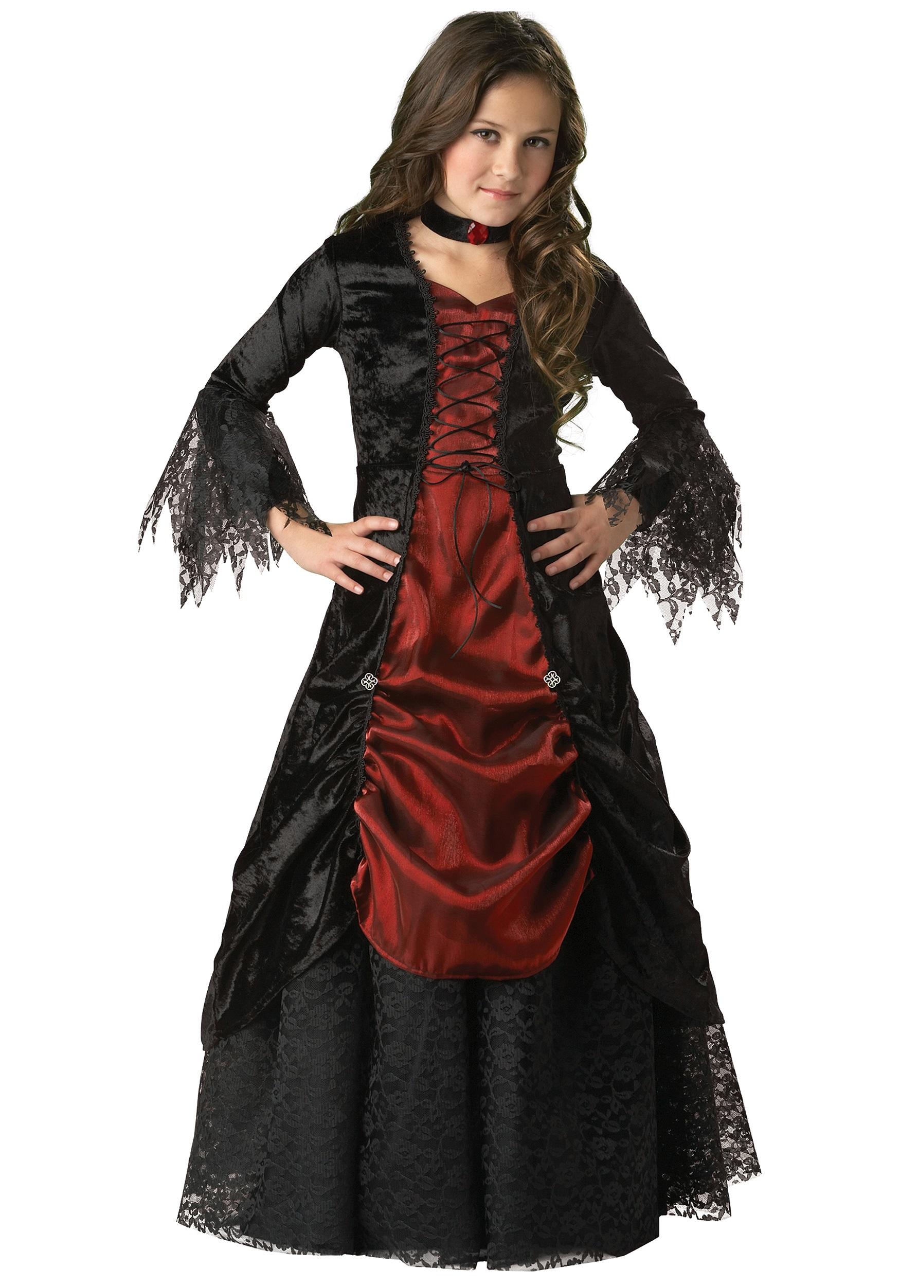 girls gothic vampira costume. Black Bedroom Furniture Sets. Home Design Ideas