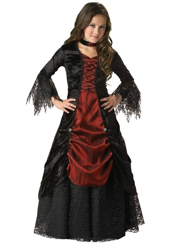 Girls Gothic Vampira Costume By: In Character for the 2015 Costume season.