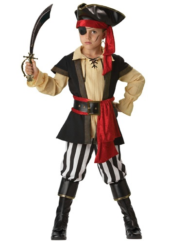 Click Here to buy Kids Scoundrel Pirate Costume from HalloweenCostumes, CDN Funds