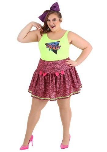 Plus Size Womens 80s Rad Costume
