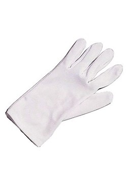 Kids White Costume Gloves