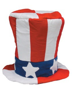 Velvet Uncle Sam Top Hat