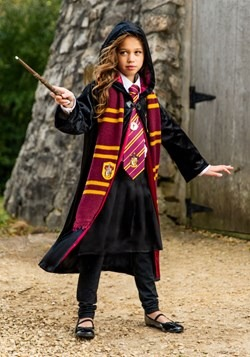 Kid's Harry Potter Deluxe Gryffindor Robe Costume Girl