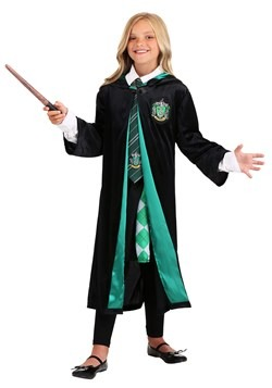 Harry Potter Child Deluxe Slytherin Robe alt1
