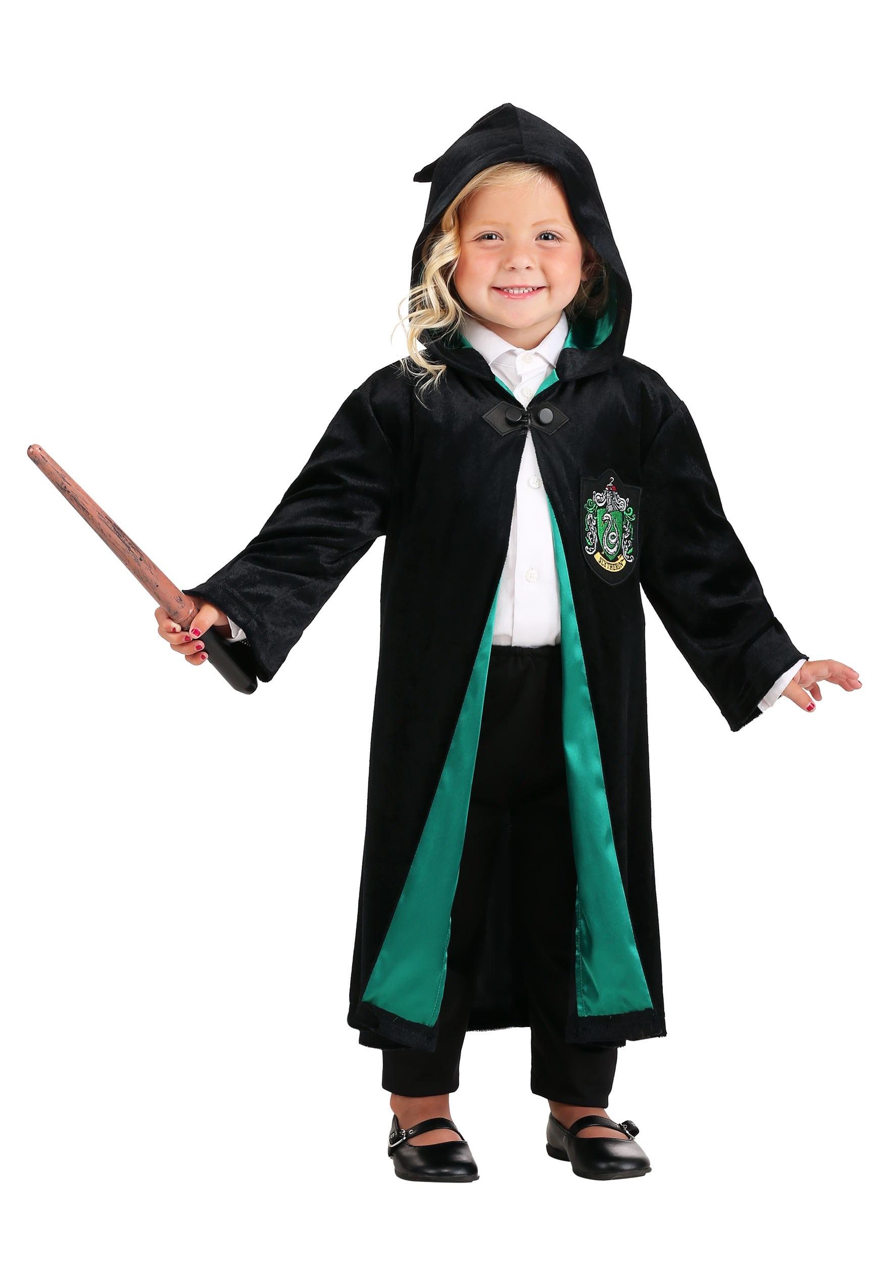 Harry Potter Kids Deluxe Slytherin Robe Costume