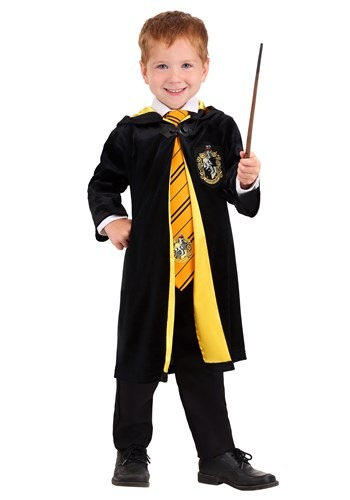 Harry Potter Toddler Deluxe Hufflepuff Robe1