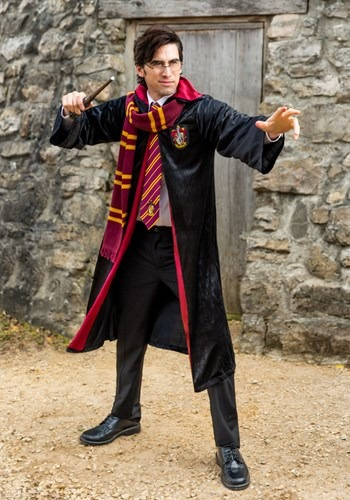 Harry Potter Plus Size Adult Deluxe Gryffindor Robe new