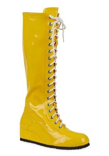 Mens Yellow Wrestling Boots