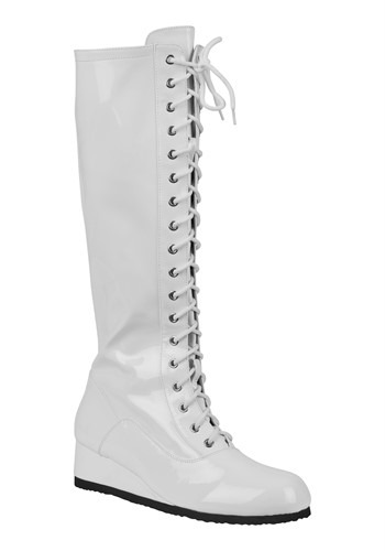 Men's White Wrestling Boot