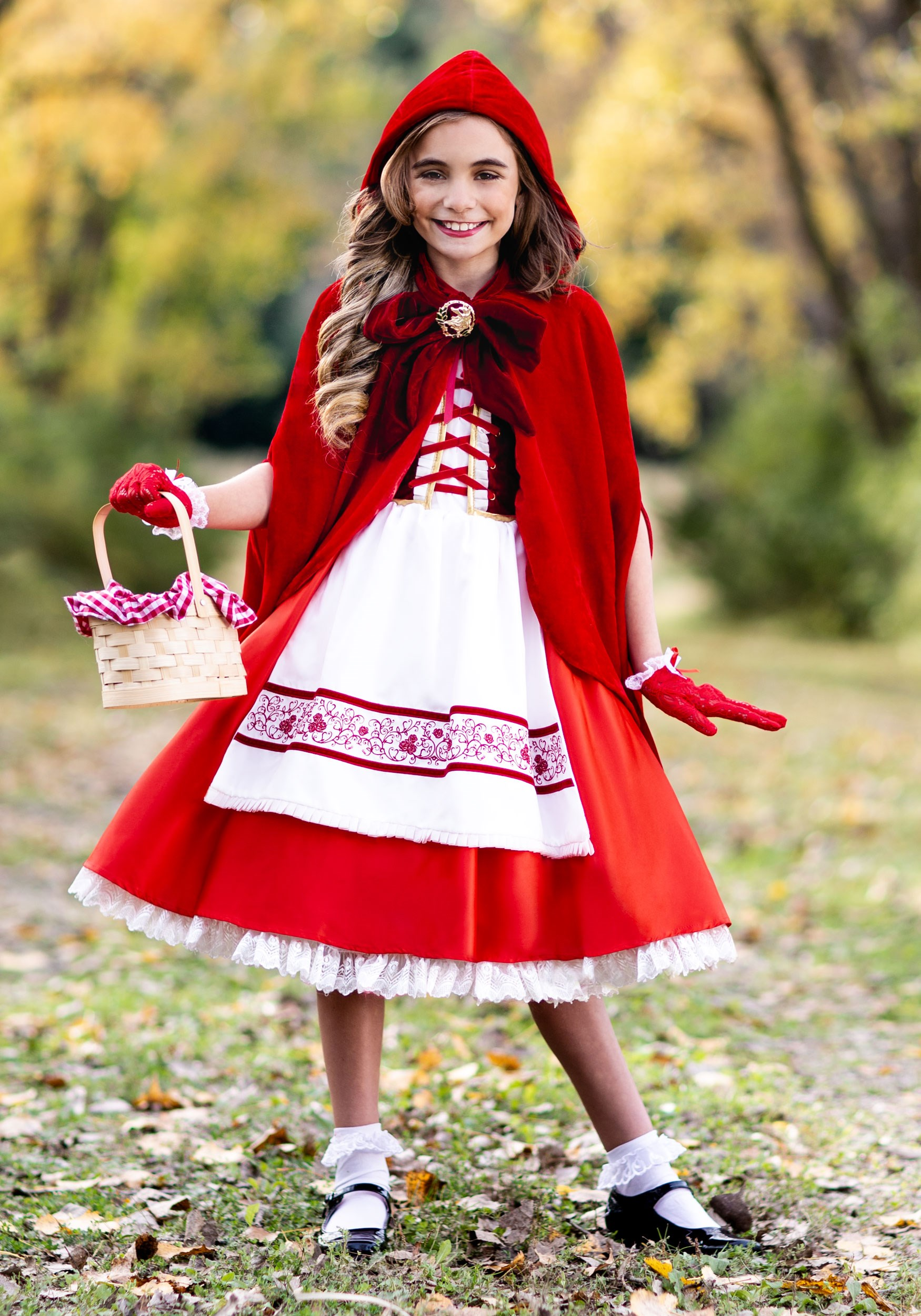 Premium Realistic Girls Red Riding Hood Costume