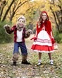 Girls Premium Red Riding Hood Costume lifestyle