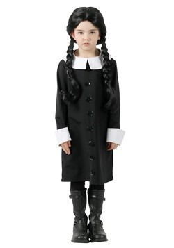 Addams Family Wednesday Addams Child Costume