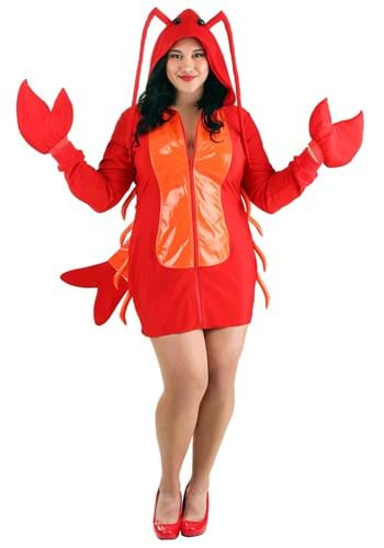 Womens Plus Size Glamorous Lobster Costume