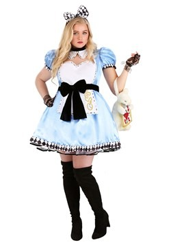 Plus Size Women's Alluring Alice Costume Update