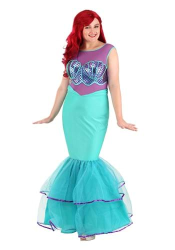Plus Size Women's Shell-a-brate Mermaid Costume
