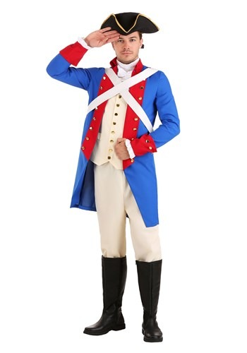 Men's American Revolution Soldier Costume