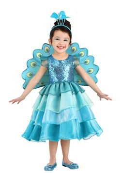 Toddler's Pretty Peacock Costume Main UPd
