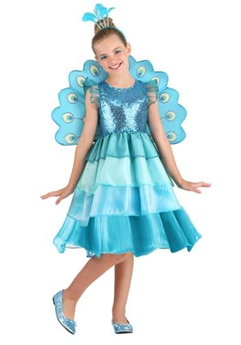 Kid's Pretty Peacock Costume