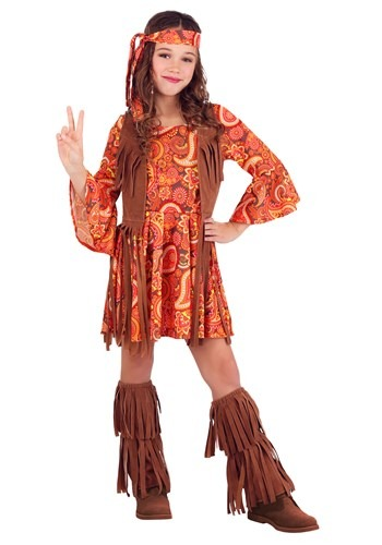 Girls Fringe Hippie Costume