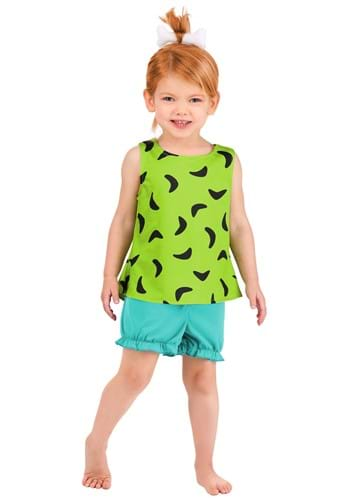 Toddler's Classic Flintstones Pebbles Costume1
