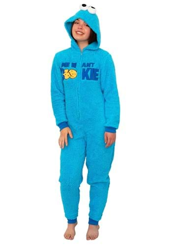 Sesame Street Womens Cookie Monster Union Suit Costume