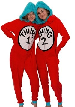 Dr. Seuss Womens Thing One & Two Union Suit Costume