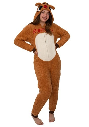 Rudolph the Red-Nosed Reindeer Womens Rudolph Union Suit Cos