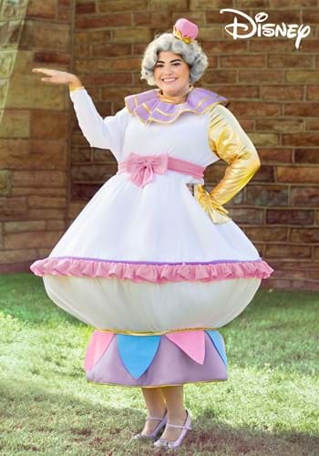 Plus Size Beauty and the Beast Mrs Potts Costume-2
