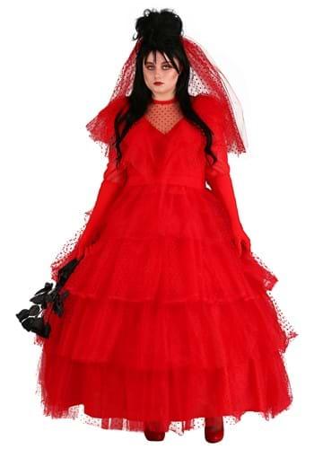 Plus Size Women's Red Wedding Dress