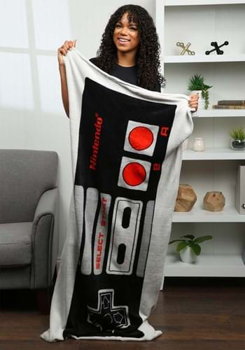 Nintendo Controller Wearable Pocket Throw Blanket-update