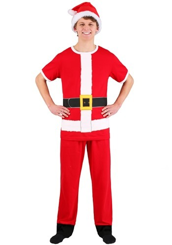 Santa Claus Cosplay Costume Tee, Lounge Pants, and Hat