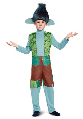 Trolls Child Branch Deluxe Costume